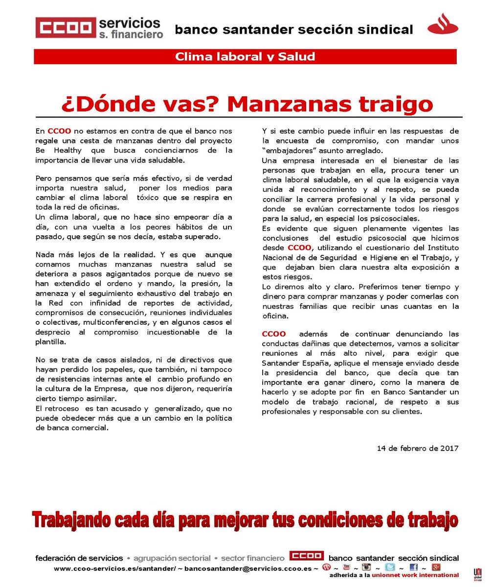 CCOO Banco Santander on Twitter: \