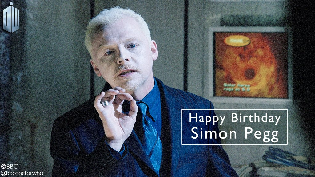 Bbcdoctorwho : Happy birthday, Simon Pegg - the nefarious Editor in The Long Game!