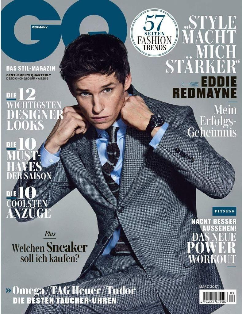 Eddie Redmayne for GQ Germany - March 2017 #EddieRedmayne #GQ https://...