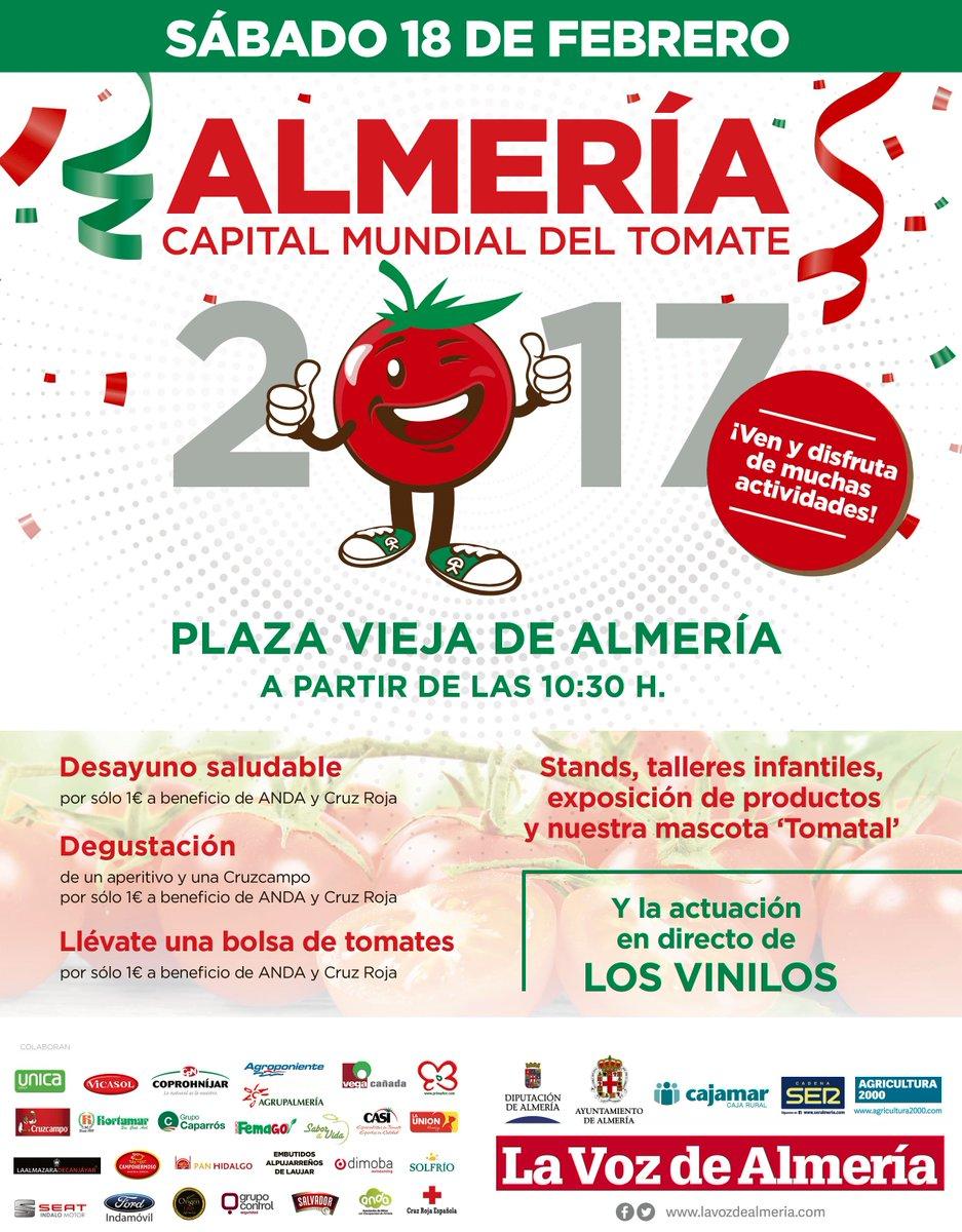 DÍA MUNDIAL DEL TOMATE/ El sábado 18 de febrero, a partir de las 10:30, en la Plaza Vieja (Almería) https://t.co/yfacxCLdSR https://t.co/TunBv4msCf
