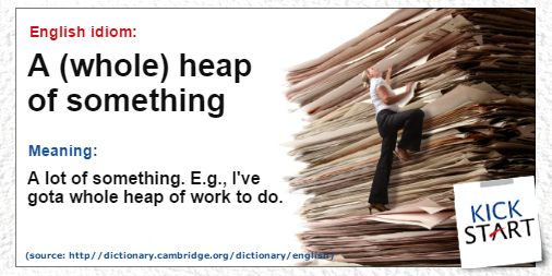 Have you got a whole heap of work to do this week? We all know that feeling! #english #englishidioms #englishcourses #kickstarschool <br>http://pic.twitter.com/enyeeCcVR6