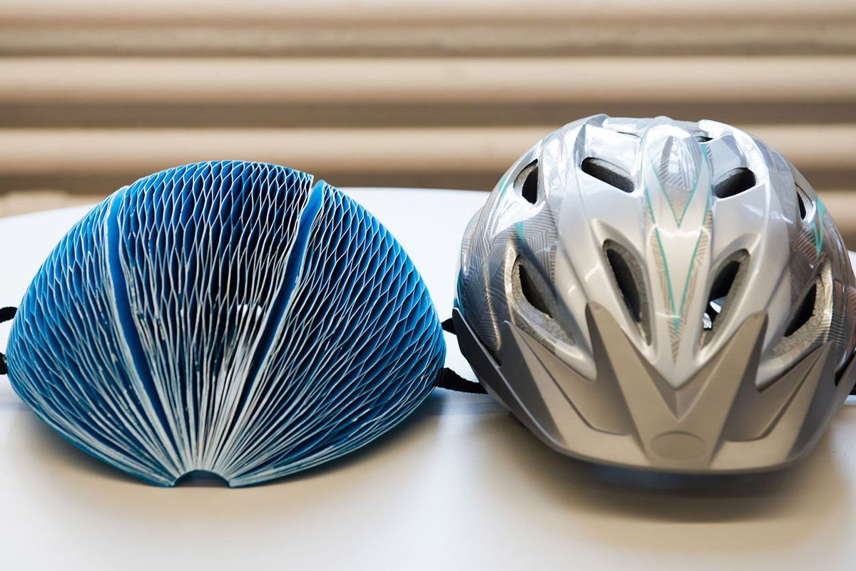 EcoHelmet, casco di carta riciclata per andare in bicicletta