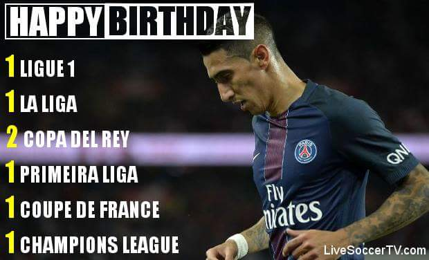 Happy bday Angel Di Maria who turns 29 on