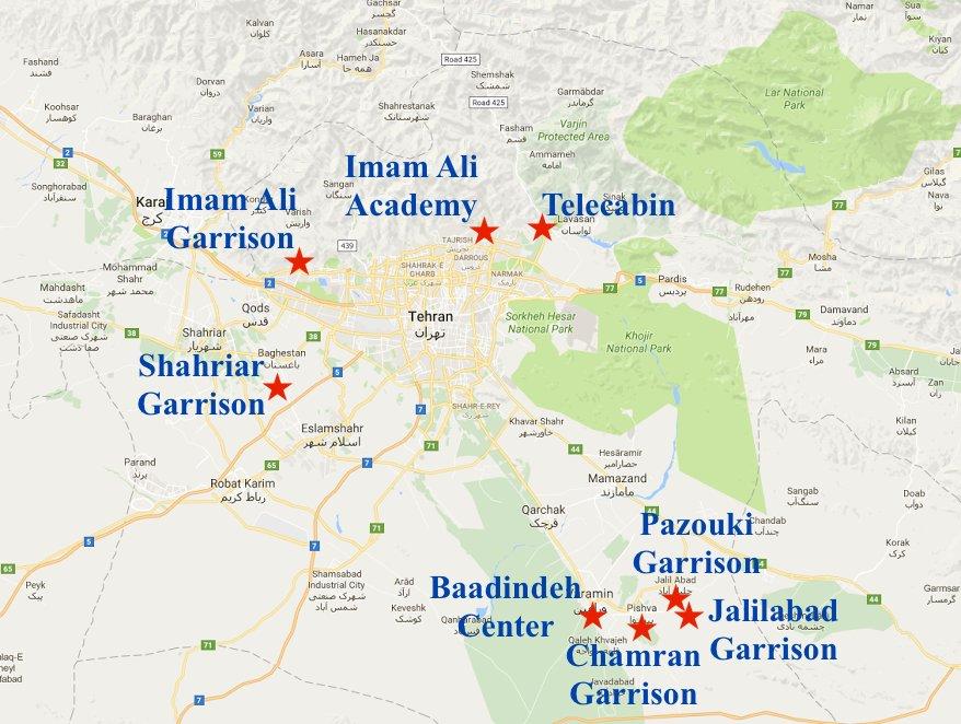 NCRIUS Rep Office On Twitter Location Of IRGC Terrorist - Terrorist training camps in us map