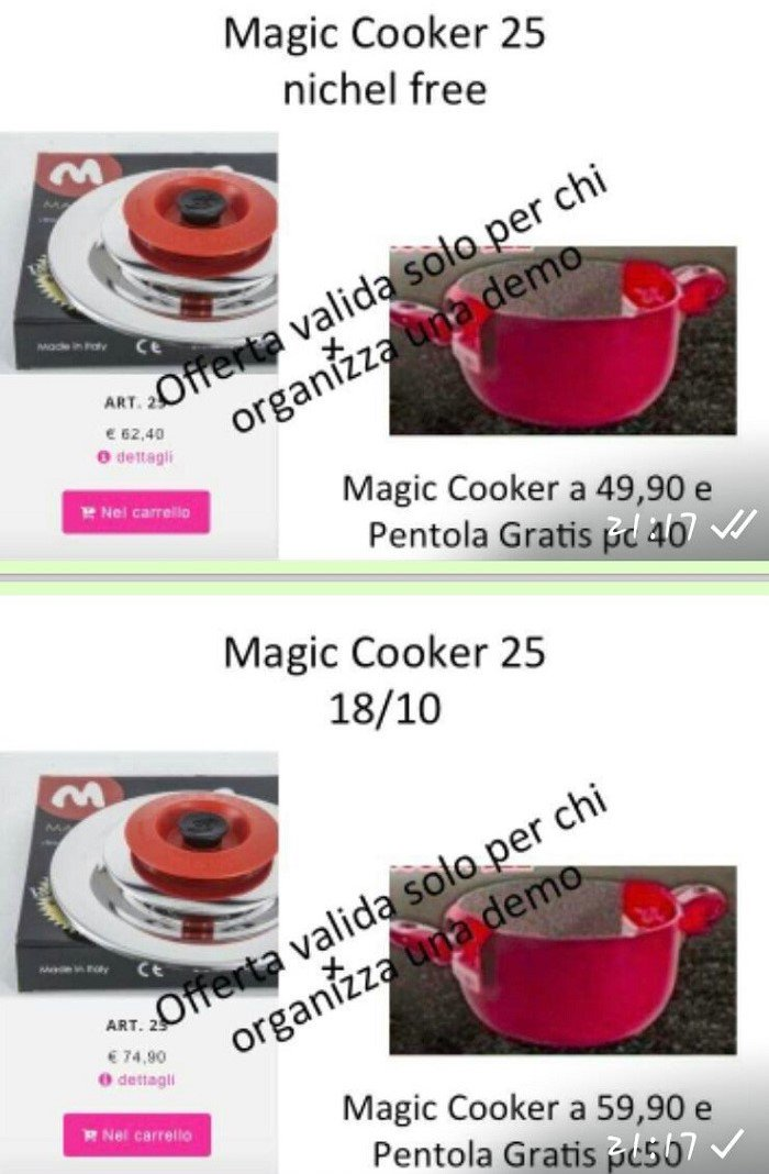 Ciambella bicolore magic cooker