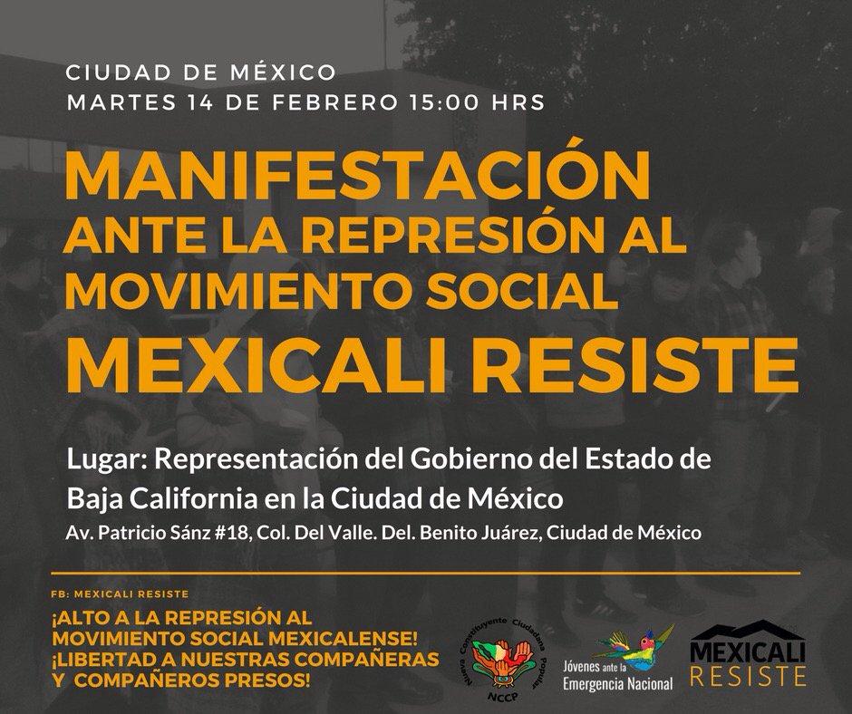 Resultado de imagen para represion en mexicali