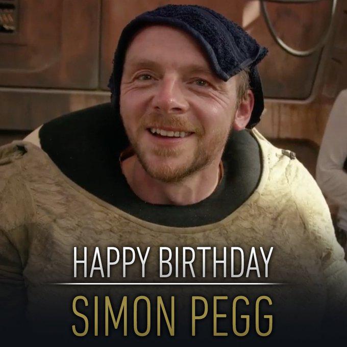 Happy Birthday an den Mann hinter Jakkus Schrotthändler Alles Gute Simon Pegg!