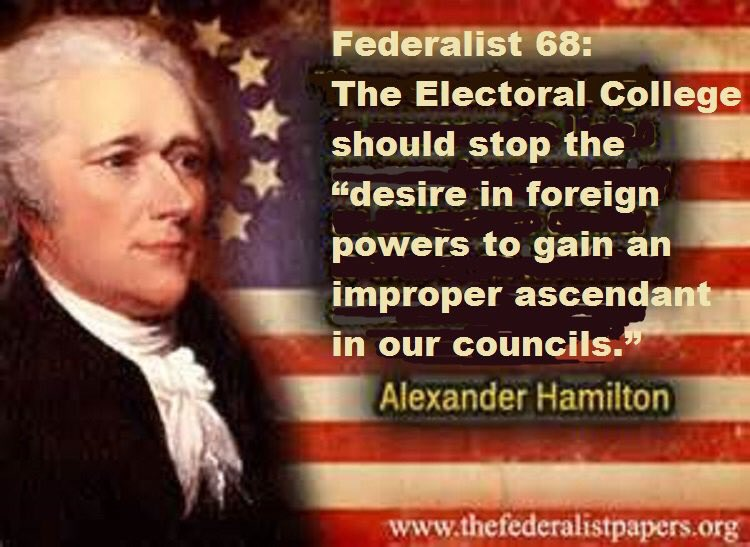 If only Electoral College had been fully informed of #Trumprussia ties... #WhatDidHeKnowAndWhenDidHeKnowIt #RussiaHacking #RusssianDossier<br>http://pic.twitter.com/cK6YF03TBE