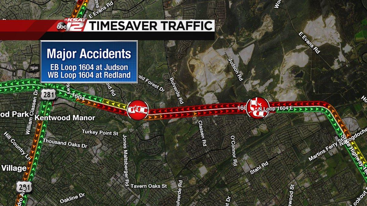 Major Accidents EB Loop Judson WB Loop Redland   KSAT 12