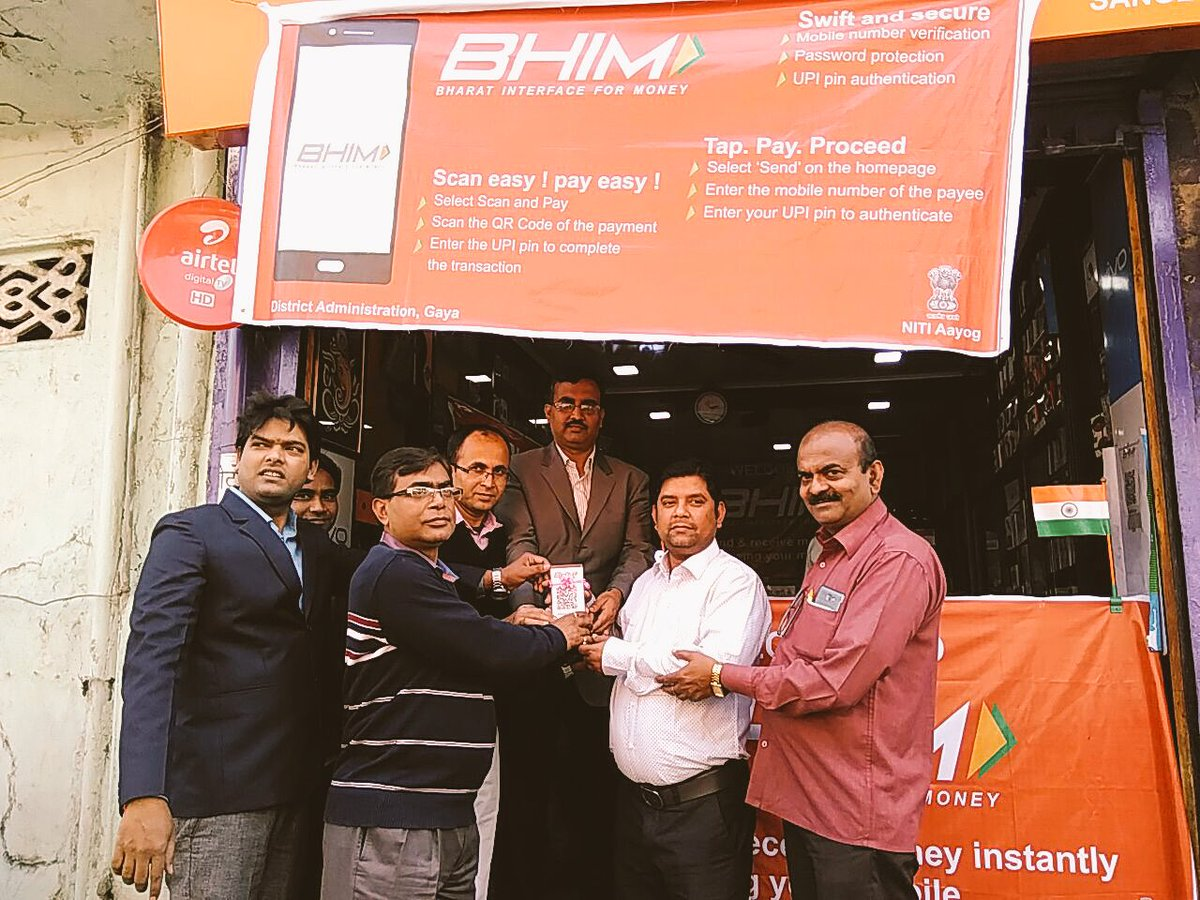 Shopkeepers in Gaya accepting #DigitalPayments using #BHIM! Download your BHIM App today:  http:// bit.ly/2kypjZP  &nbsp;  <br>http://pic.twitter.com/C1HgEjWeNv