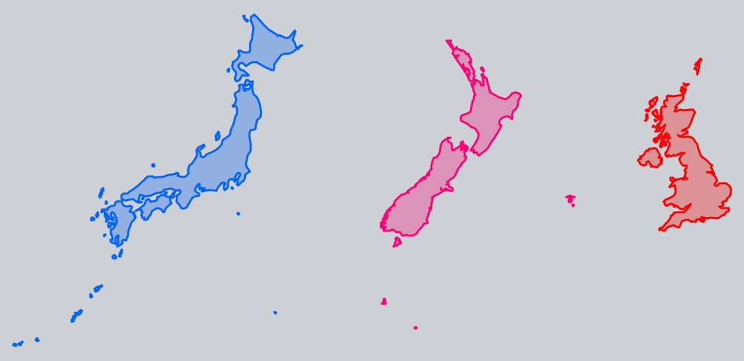 "ニュージーランド Twitter: Vivid Maps On Twitter: ""Japan, New Zealand And UK Size Comparison Https://t.co"