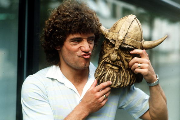 Happy 66th birthday to Kevin Keegan. Here he is with a viking, and hanging out the washing with Trevor Brooking
