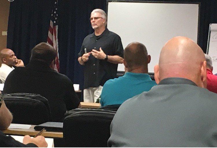FBI-LEEDA instructor Dean Crisp conducting the Command Leadership course this week in Titusville, FL. https://t.co/osPutXPf2h