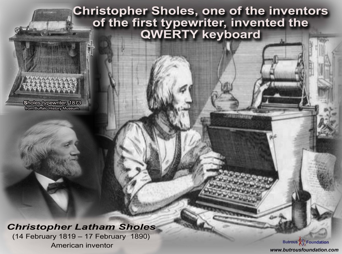 a history of christopher latham sholes and the invention of a typewriter Invention of the typewriter christopher latham sholes invented the first typewriter, and in 1868, it was patentedhe had the help of his partners s w soule and g glidden the typewriter was manufactured in 1873 by a company called remington arms.