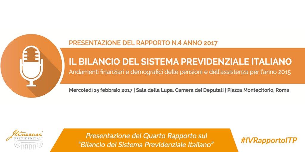Domani a @Montecitorio per presentare il IV Rapporto sul Bilancio del Sistema Previdenziale Italiano: http://bit.ly/QuartoRapporto #IVRapportoITP