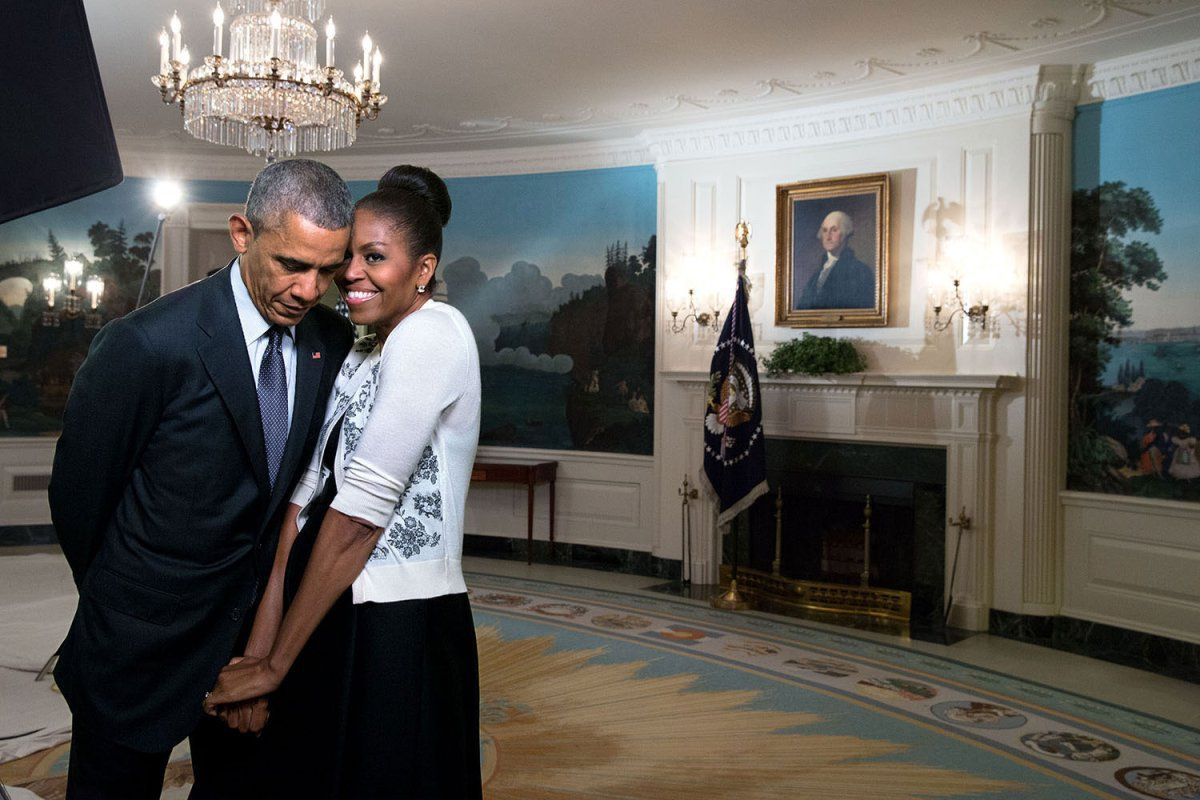 Happy Valentine's Day, @michelleobama! Almost 28 years with you, but it always feels new.