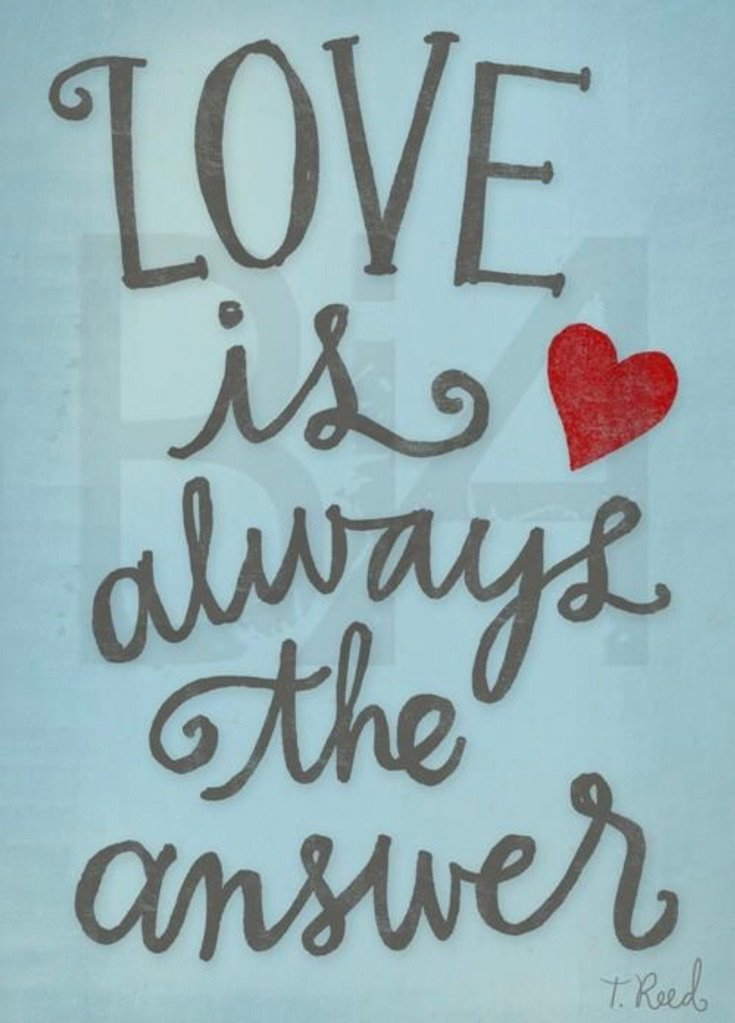 #LOVE is ALWAYS the answer! #JoyTrain #Joy #Peace #BeLove #Wisdom #Compassion <br>http://pic.twitter.com/hU7BJHeddJ RT @LIGHTWorkersi @KariJoys
