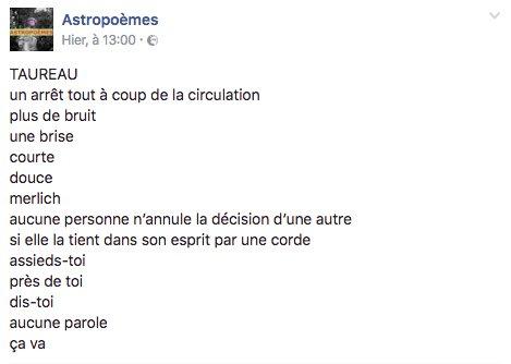 Laura Vazquez På Twitter Taureau Astro Astropoèmes