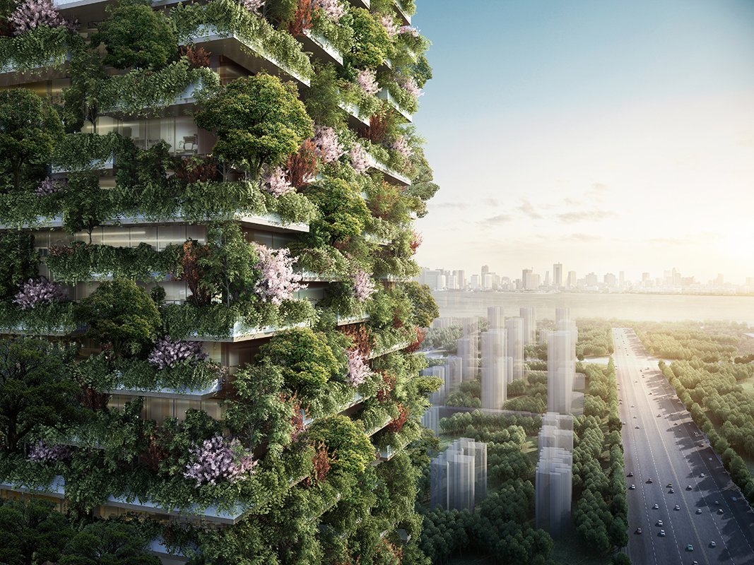 Deux gratte-ciel hébergent une #forêt verticale anti #pollution &gt;&gt;  http:// bit.ly/2kGk75r  &nbsp;   @StefanoBoeri #climate <br>http://pic.twitter.com/tnRKxYaz0n