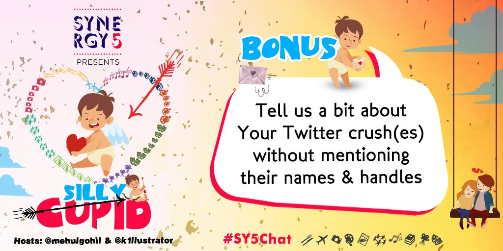 BONUS: Tell us a bit about your Twitter crush/es w/o mentioning their names &amp; handles.  Use Bonus &amp; #SY5Chat #SillyCupid to reply. :)<br>http://pic.twitter.com/gdzs9H2ODM