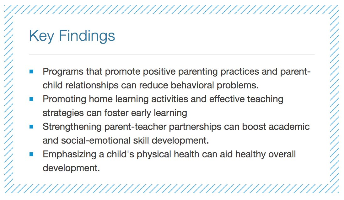Providing support for parent engagement in early childhood promotes healthy development https://t.co/7xnXtxO26O via @rwjf https://t.co/1d1ztzoyMY