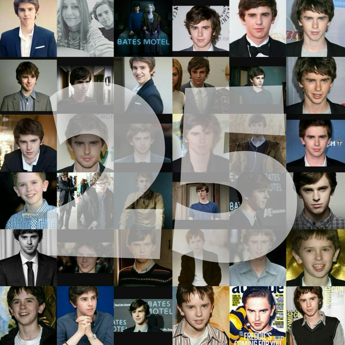 Happy birthday to my favorite actor, Freddie Highmore! , I really appreciate you, sweetie