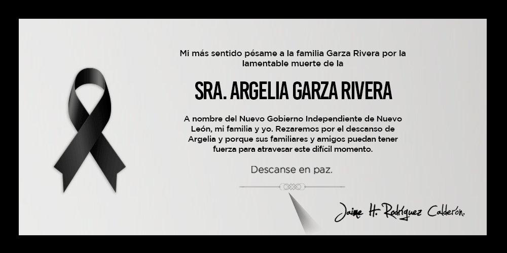 Nos unimos a la pena que embarga a la familia Garza Rivera, que encuen...