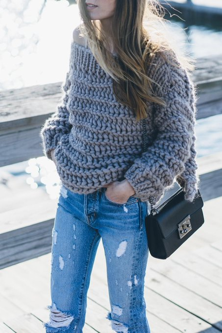 Chunky Knit and My Favorite Jeans