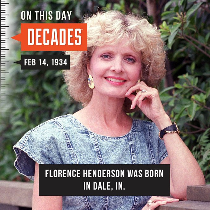 Happy birthday to Florence Henderson.