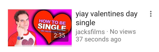 Jacksfilms on twitter new vid how to be single on valentines day 0 replies 0 retweets 10 likes ccuart Images
