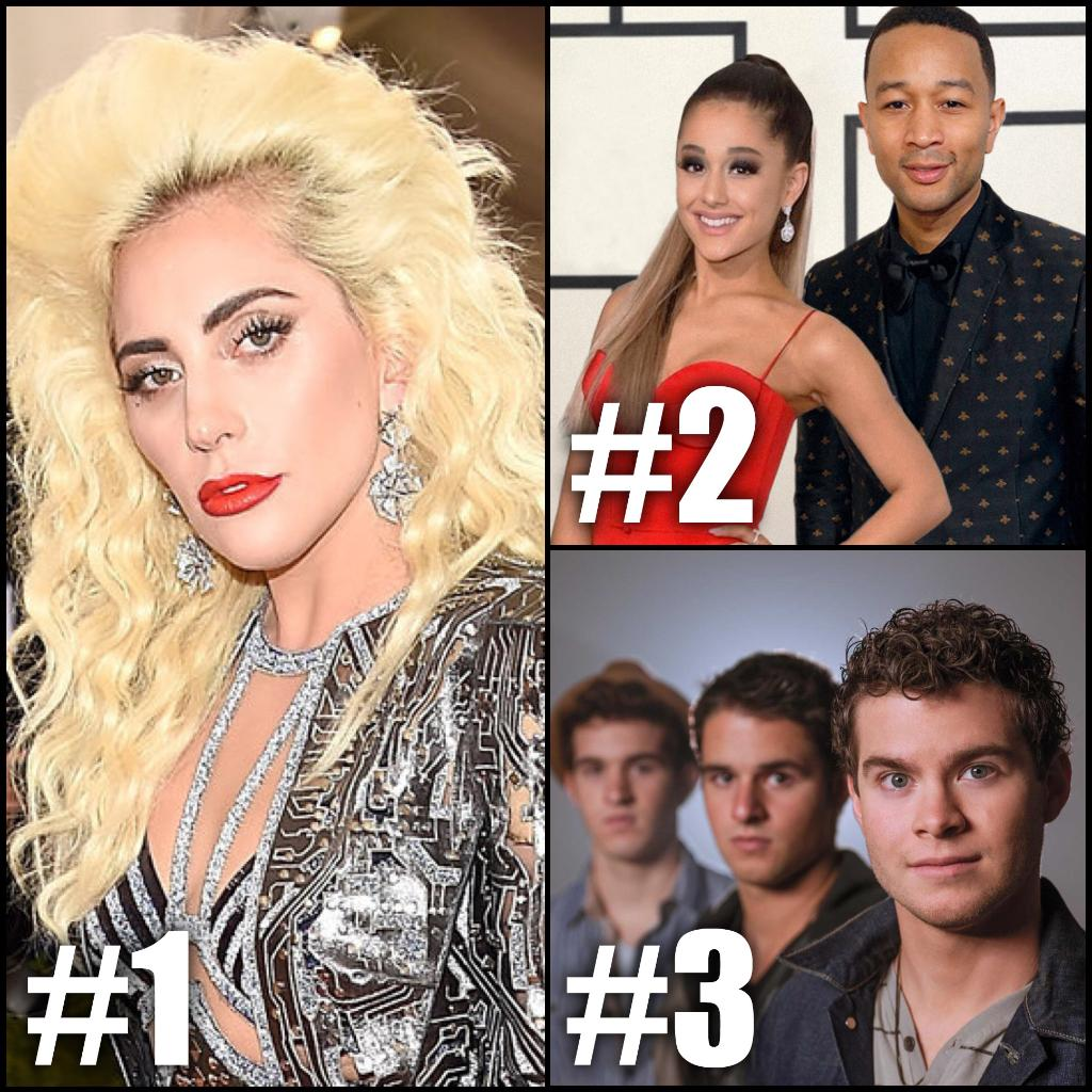 Here is Tuesday&#39;s #RDTop3! 1. @LadyGaga #MillionReasons 2. @ArianaGrande &amp; @JohnLegend #BeautyAndTheBeast  3. @OBB_Music #Sweater <br>http://pic.twitter.com/Lsl3DKtIg3