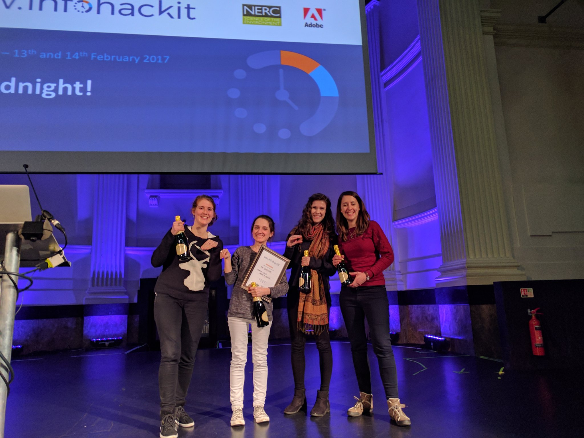 And the Crabsters have won #infohackit #Norwich https://t.co/tdIezF1FwM