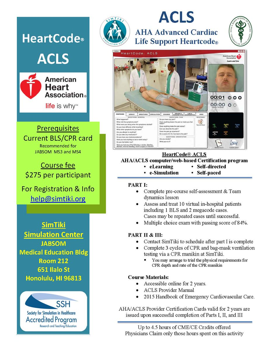 Simtiki On Twitter Simtiki Is Now Offering Americanheart Acls