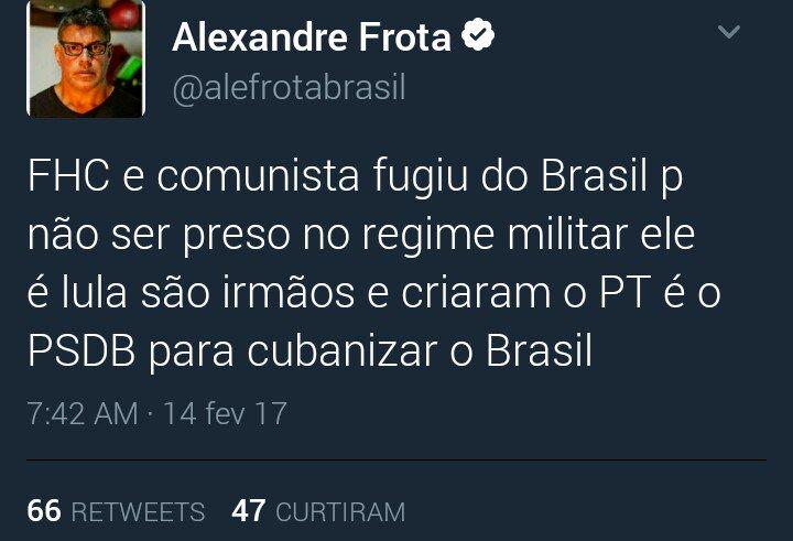 O meme do Frota analista político. https://t.co/5QA8UQO65m