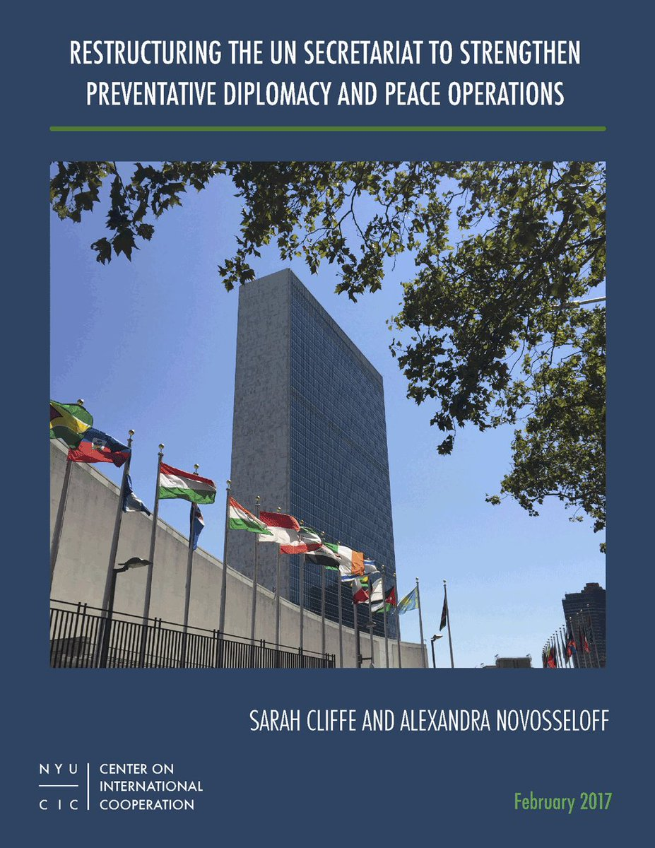 alischa kugel alischakugel twitter security peaceoperationsreview org thematic essay s restructuring the un secretariat to strengthen preventative diplomacy and peace operations