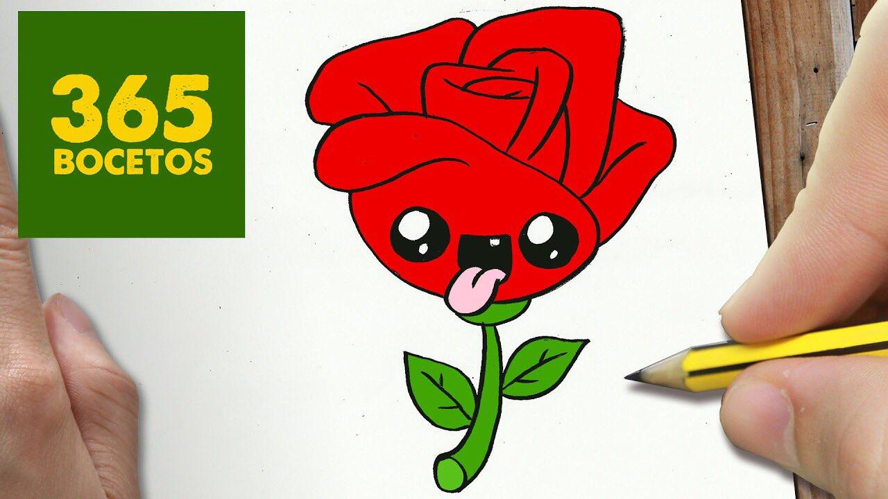 365 bocetos on twitter aqu os dejo un v deo de como - Dessin facile rose ...