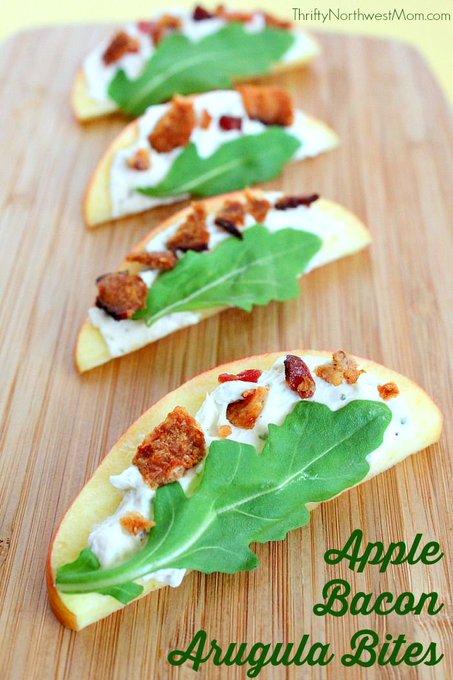 Apple Bacon Arugula Bites