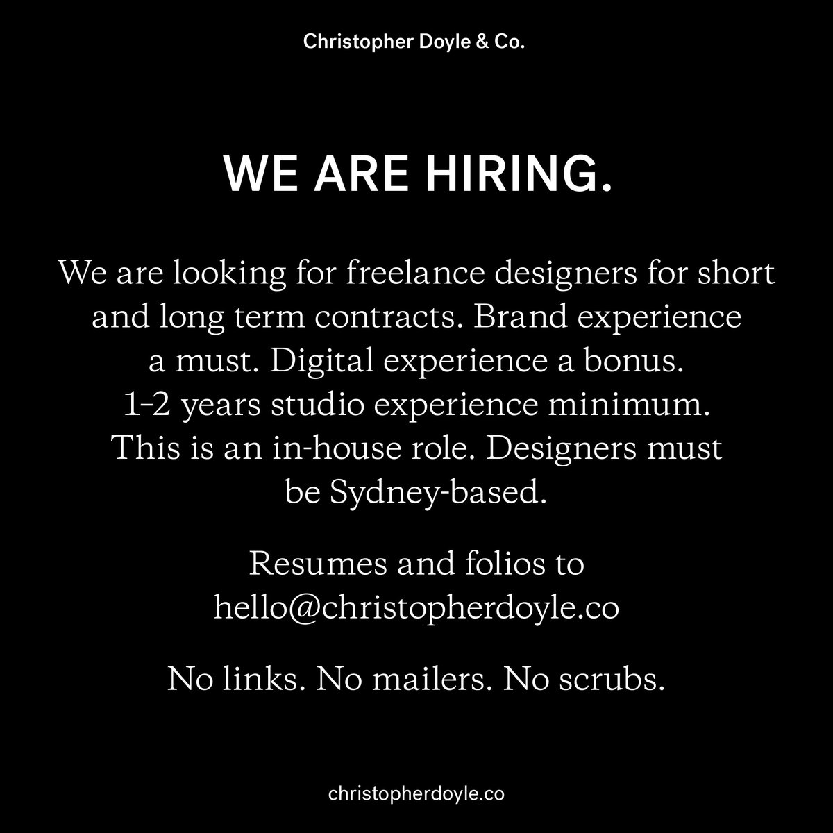 WE ARE HIRING— We are looking for freelance designers for short and long term contracts. https://t.co/DhraAAoofI