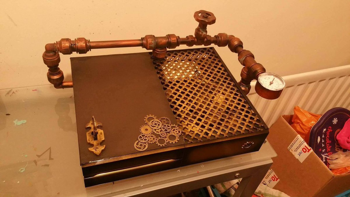 #Geek Awesome of the Day: #Steampunk #XboxOne with Pipes, Gauge and Cogs by @NebulaCustom via @HindzBeanz #SamaGeek