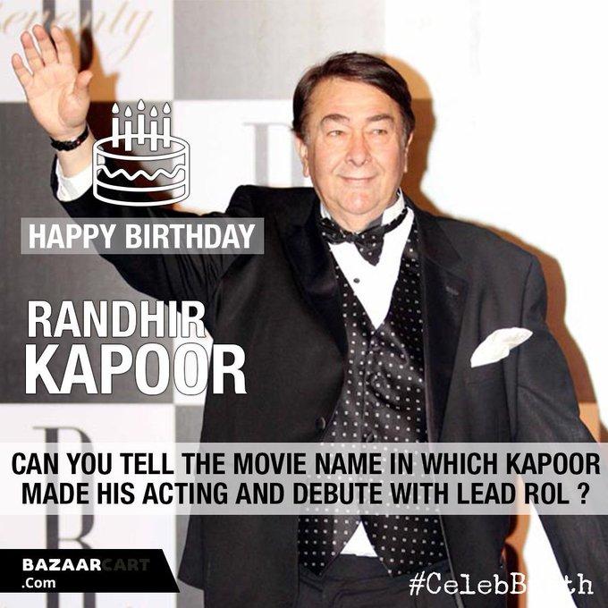 Wish you a very happy birthday to Randhir Kapoor