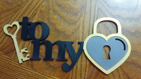 Key to my Heart Wall Art, Crafts, Wreaths, Valentines day, Anniversary, Wedding Gift