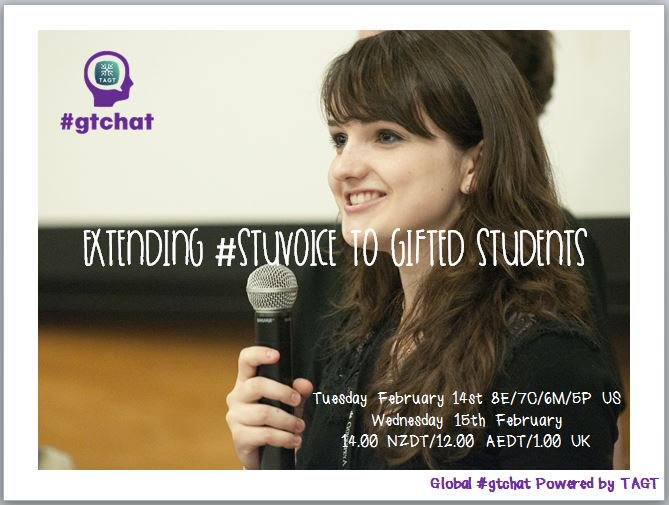 Thumbnail for #gtchat: Extending #StuVoice to Gifted Students