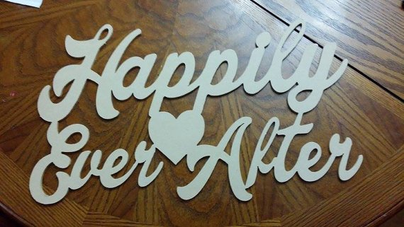 Happily Ever After Valentines Day, Personalized, Wall Decor, Wall Art, Interior Design, Home Decor