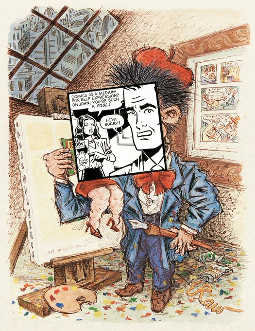 Happy Birthday to Art Spiegelman - Cover art for Print magazine - May/June 1981