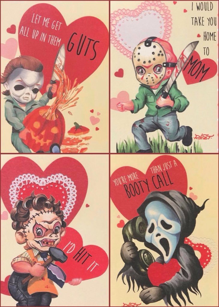 Happy Valentines Day  #MichaelMyers #JasonVorhees  #LeatherFace #GhostFace #Horror #HorrorFilms #HorrorMovies #HorrorNerd #HorrorFan<br>http://pic.twitter.com/5Pj7xhDrJD