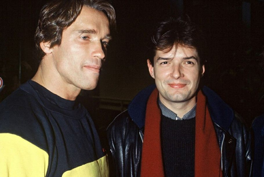 Falco Hans Holzel con Arnold Schwarzenegger