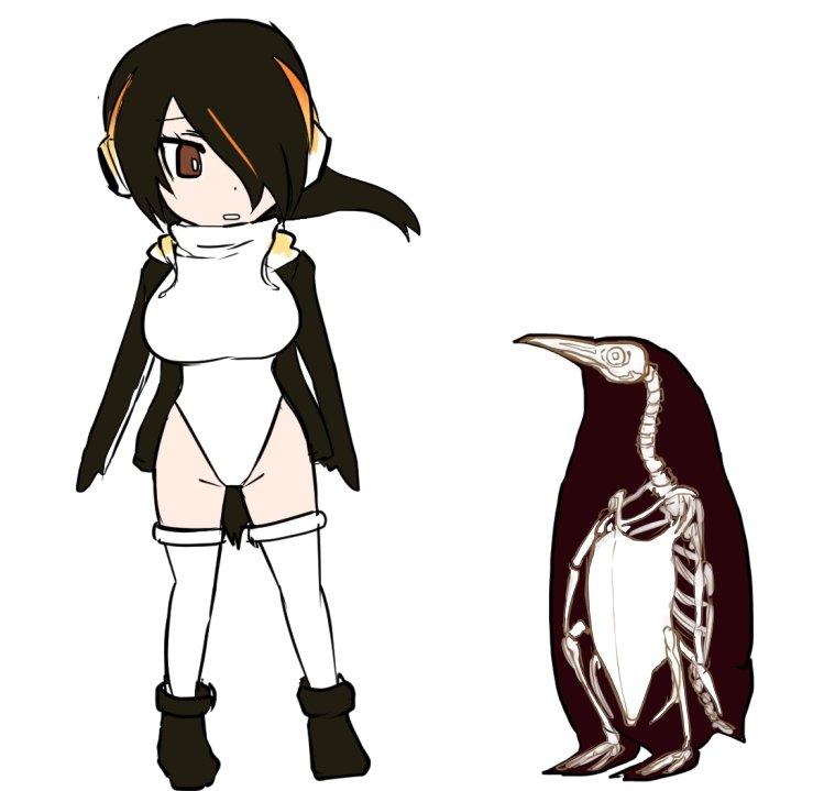 獣フレンズのコウテイペンギンさんがハイレグ衣装なの、ペンギンの胸骨のイメージなんですかね。