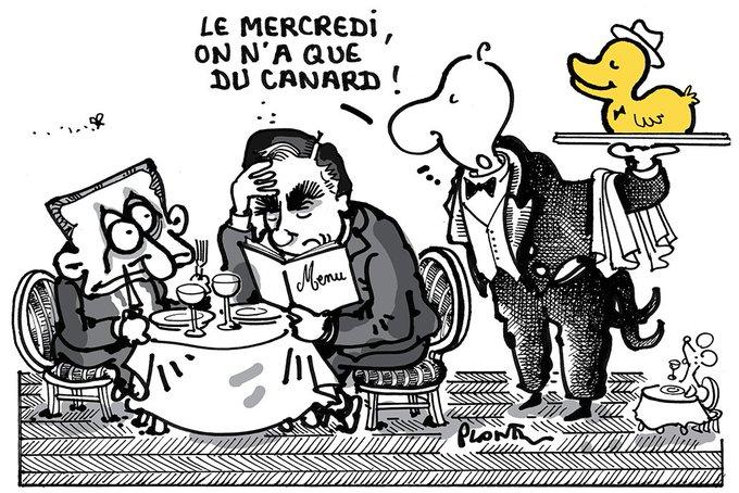 LE DÉJEUNER SARKO-FILLON. Le dessin du Monde de ce mercredi 15 février.