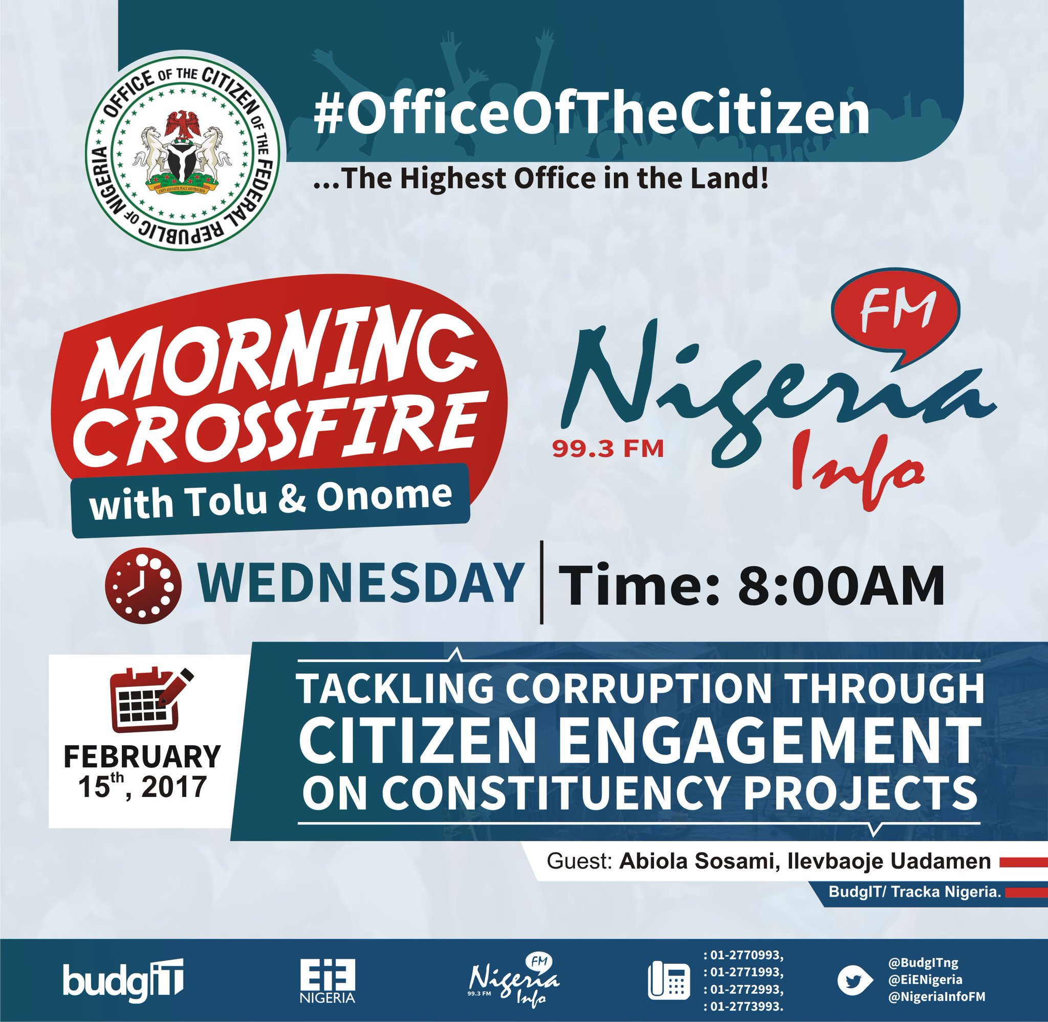 Thumbnail for #OfficeOfTheCitizen - Tackling Corruption Through Citizen Engagement in Constituency Projects