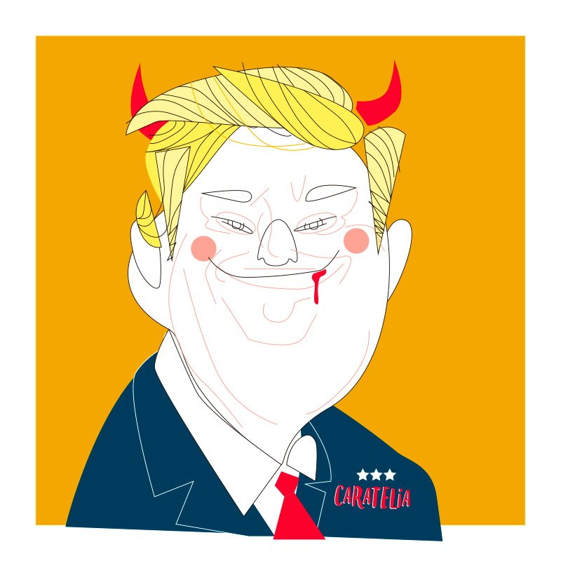 Evil @realDonaldTrump #caratelia #illustration #retratos #tucara #portait #regalos #pictureoftheday #evil #usa #donaldtrump #retratos<br>http://pic.twitter.com/deQIweZtQD